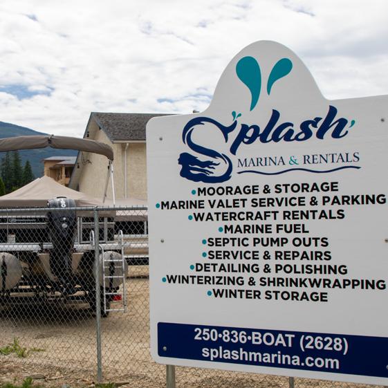Splash Marina and Boat Rentals, Sicamous, BC on the Shuswap Lake